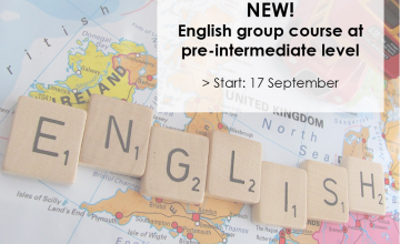 New English course at Pre-intermediate level starts 17 September