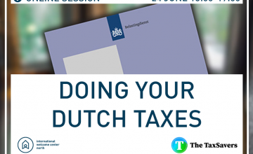 Online session:Doing Your Dutch Taxes